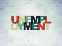 Business concept: Unemployment on Digital Data Paper background. Business concept: Painted multicolor text Unemployment on Digital Data Paper background Stock Images