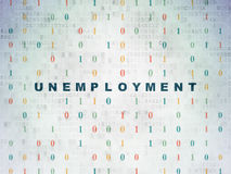 Business concept: Unemployment on digital Stock Images