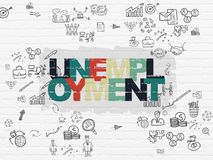 Business concept: Unemployment on wall background Royalty Free Stock Photo