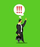 Business concept. Vector illustration stylized businessman character in different situations Business Royalty Free Stock Photos