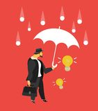 Business concept. Vector illustration stylized businessman character in different situations Business Stock Photos