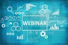 Webinar in Business Concept stock images