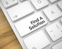 Find A Solution on the White Keyboard Keypad. 3D. Business Concept. White Key on the Laptop Keyboard. Modernized Keyboard Button Showing the InscriptionFind A Royalty Free Stock Photos