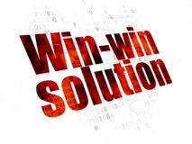 Business concept: Win-win Solution on Digital background. Business concept: Pixelated red text Win-win Solution on Digital background Stock Image