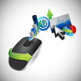 Business concept and Wireless computer mouse Royalty Free Stock Photography