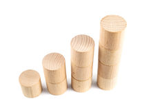 Business concept. Wooden cylinders as a business concept, achieve goals, recovery Stock Photo