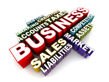 Business concept words Royalty Free Stock Photos