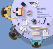 Business concept - work concept - flat design Royalty Free Stock Photography
