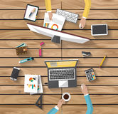 Business concept - work concept - flat design Royalty Free Stock Images