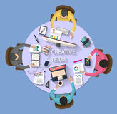 Business concept - work concept - flat design Stock Images