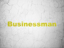 Business concept: Businessman on wall background Royalty Free Stock Photo