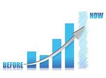 Business conception -blue glass graph. Illustration design Stock Images