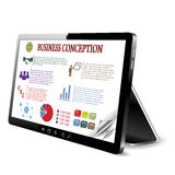 Business conception on the tablet computer screen. Royalty Free Stock Images