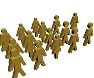 Business concepts. Illustrated with gold textured people Royalty Free Stock Photo