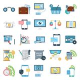 Business Concepts Color Vector Icons Set royalty free illustration