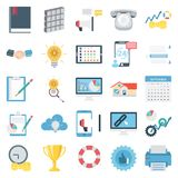 Business Concepts Color Vector Icons Set stock illustration