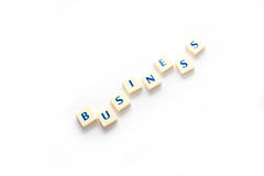 Business concepts in crossword. Royalty Free Stock Images