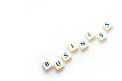 Business concepts in crossword. Royalty Free Stock Photography