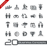 Business Concepts Icon Set // Basics Stock Images