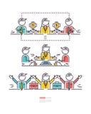 Business concepts, icon teamwork Stock Photos
