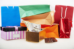 Business concepts - money in box Stock Image