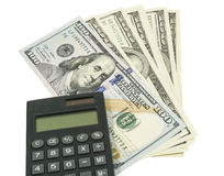 Business concepts. money with calculator Royalty Free Stock Photos
