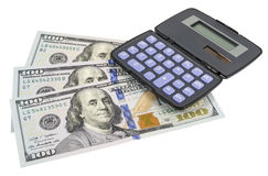 Business concepts. money with calculator Royalty Free Stock Image