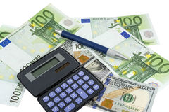 Business concepts. money with calculator Royalty Free Stock Photo