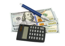 Business concepts. money with calculator Stock Photography