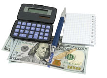 Business concepts. money with calculator Royalty Free Stock Images