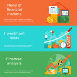 Business concepts. News of markets, investment Royalty Free Stock Photography