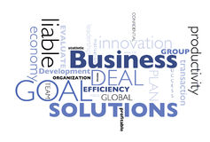 Business concepts poster Stock Images