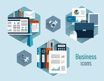 Business concepts set Royalty Free Stock Images