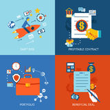 Business concepts set Stock Image