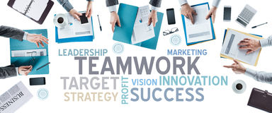 Business concepts and team at work Royalty Free Stock Photography