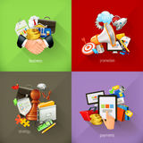 Business concepts, vector icons Royalty Free Stock Photo