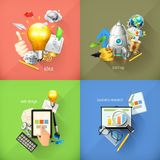 Business concepts, vector icons Royalty Free Stock Photography