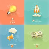 Business concepts, vector set Royalty Free Stock Images