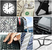 Business conceptual collage Royalty Free Stock Image