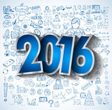 2016 Business Conceptual creative drawing business success Royalty Free Stock Image