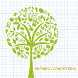 Business conceptual tree royalty free illustration
