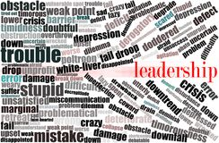 Business conceptual words , leadership Royalty Free Stock Photo
