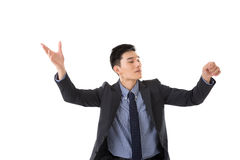 Business conductor man Stock Photo