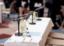 Business conference. Indoor business conference for managers stock image