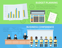 Business Conference and Budget Planning. Man presenting development and financial planning on meeting conference. Product presentation. Search for investors Royalty Free Stock Images