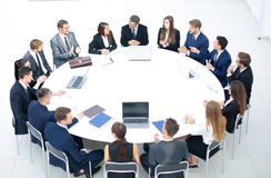 Business conference. Business meeting. Business people in formal Stock Photography