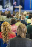 Business Conference Concept and Ideas. Lecturer Speaking In fron Royalty Free Stock Photo
