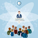 Business conference concept marketing strategy teamwork Stock Photo