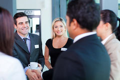 Business conference. Group of business people at business conference Royalty Free Stock Photography