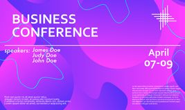 Business conference invitation design template. Flyer layout. Fluid background. Minimal abstract cover design. Creative colorful wallpaper. Trendy gradient royalty free stock photos